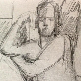 Richard 4 (detail) IONA pencil Wednesday 8 October, 2014