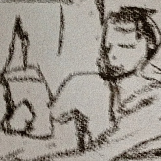 Richard 5 (detail) IONA charcoal Wednesday 8 October, 2014