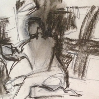 Richard 2 (detail) IONA charcoal Wednesday 8 October, 2014
