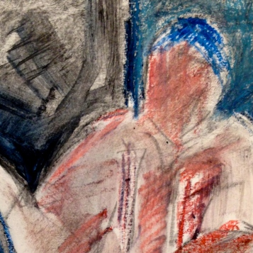 Richard (detail) JACQUIE oil pastels over charcoal Wednesday 8 October, 2014