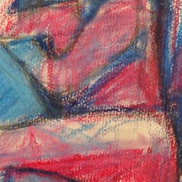Richard (detail) IONA oil pastels over charcoal Wednesday 8 October, 2014