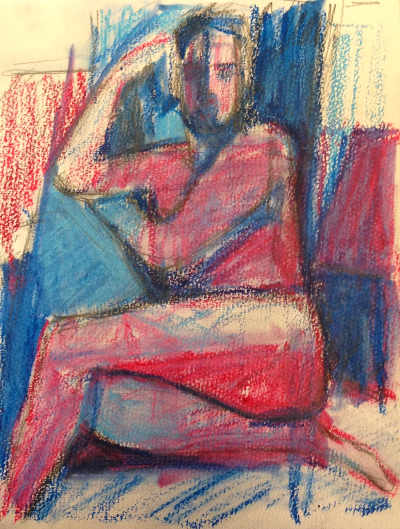 Richard IONA oil pastels over charcoal Wednesday 8 October, 2014