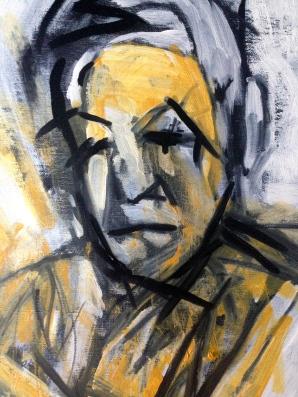 Yellow Michael (head detail) JONATHAN ELLIS oils October 2014