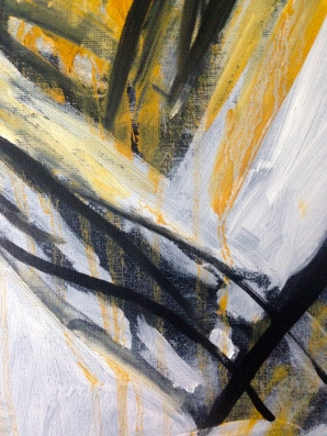Yellow Michael (arm detail) JONATHAN ELLIS oils October 2014