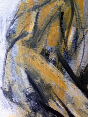 Yellow Michael (hand detail) JONATHAN ELLIS oils October 2014