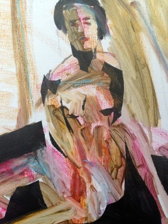 Shaped Life Painting (2nd Stage) - detail JONATHAN ELLIS acrylic paint on canvas October 2014