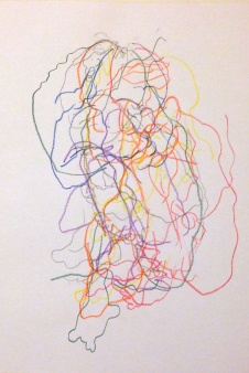 Barrie Trace of Seeing 2 SUNA Coloured pencil 12 October 2014
