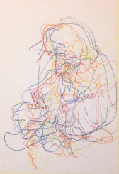 Barrie Trace of Seeing 2 PHOEBE Coloured pencil 12 October 2014