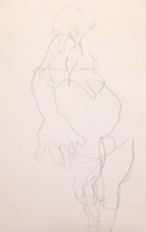 Barrie Trace of Seeing SUNA Graphite pencil 12 October 2014