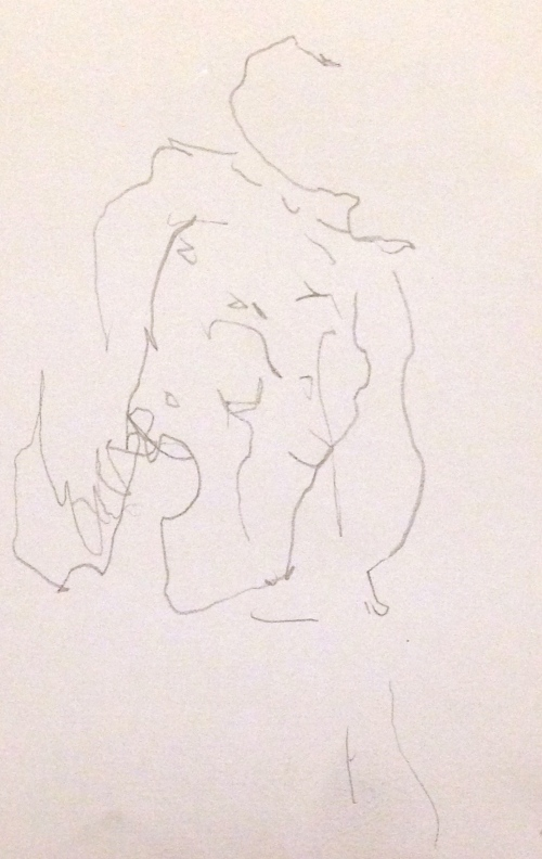 Barrie Trace of Seeing PHOEBE Graphite pencil 12 October 2014