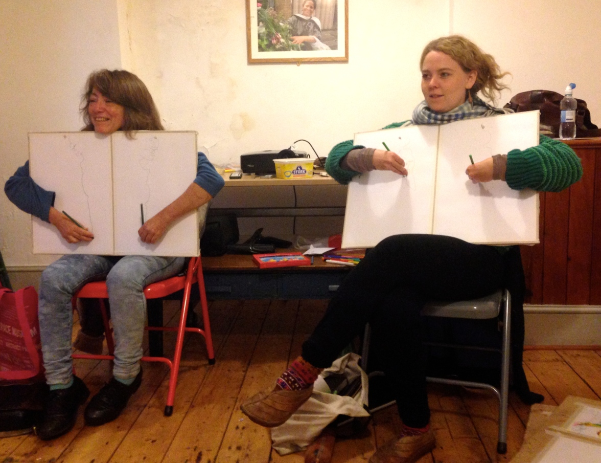 SUNA and PHOEBE drawing at the Hornbeam 12 September 2014
