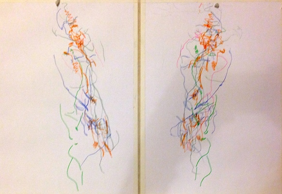 Barrie Simultaneous Trace of Seeing 6 SUNA Graphite pencil 12 October 2014