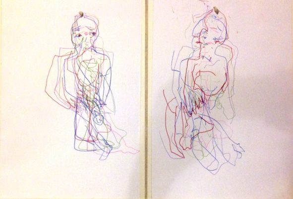 Barrie Simultaneous Trace of Seeing 6 PHOEBE Graphite pencil 12 October 2014
