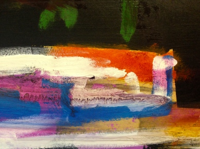 After Hollow Ponds II (detail) JONATHAN ELLIS oils 85 x 60 cm