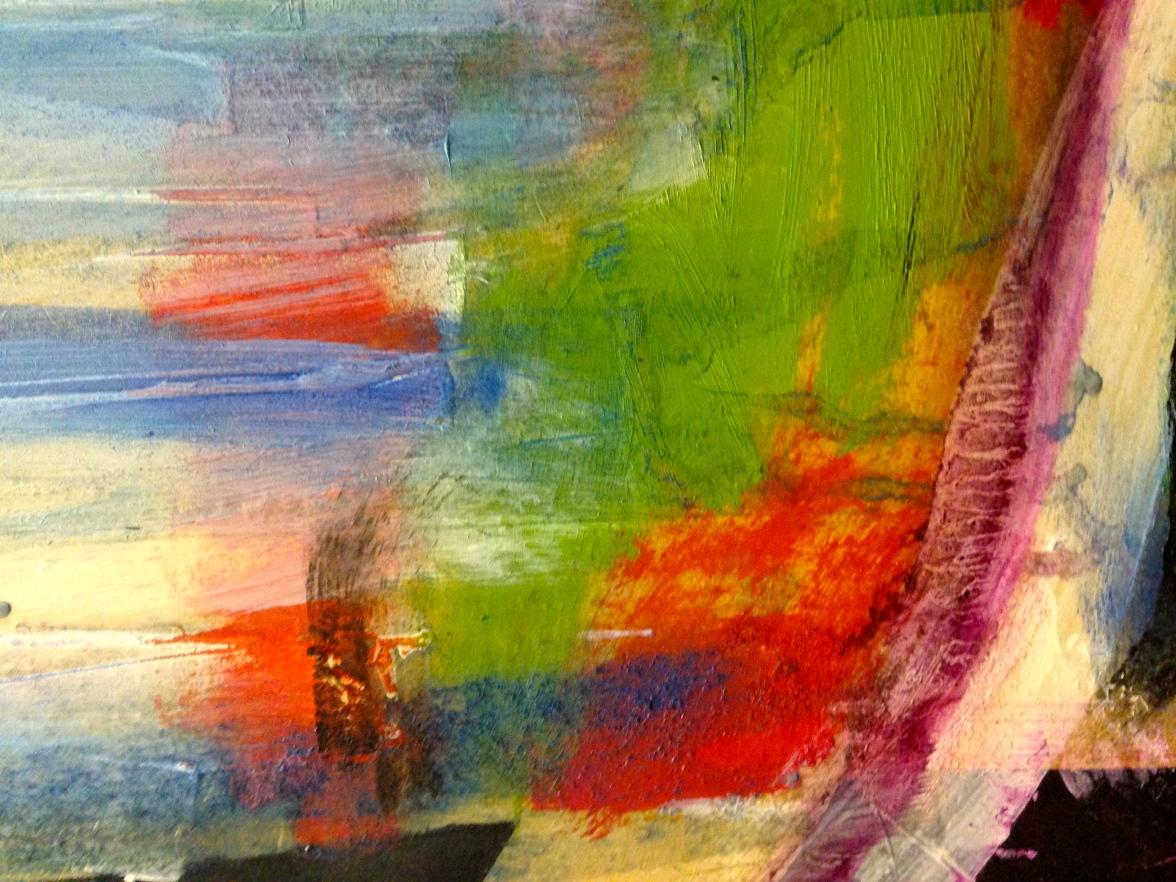 After Hollow Ponds I (detail) JONATHAN ELLIS oils 85 x 60 cm
