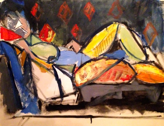 Painting after Picasso 1 ANNIE
