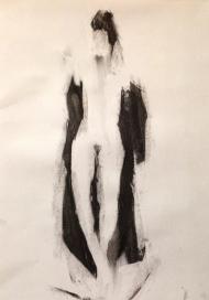 Estelle 2 JONATHAN ELLIS charcoal on paper 26 October 2014