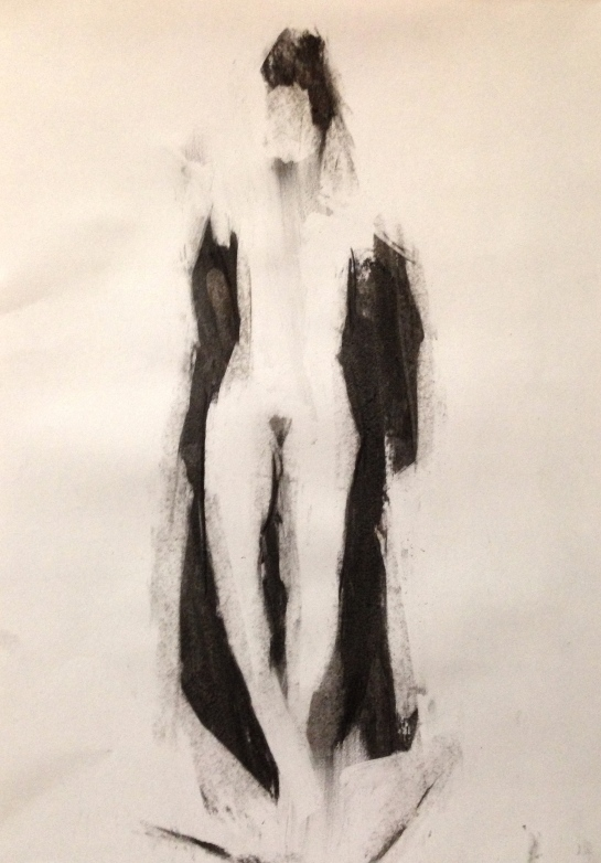 Estelle 2 JONATHAN ELLIS charcoal on paper 26 October 2014