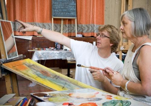 Jonathan Ellis teaching Photograph by PHIL HARVEY