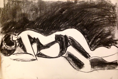 De Stael Exercise 6 ANNIE FIELD charcoal 5 November 2014