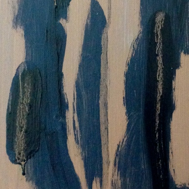 Estelle Standing (first stage) detail 2 JONATHAN ELLIS oil and acrylic on canvas 1 November 2014