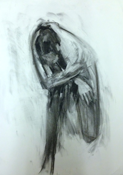 Charcoal Drawing of David JONATHAN ELLIS Charcoal on paper A2 3 November 2014