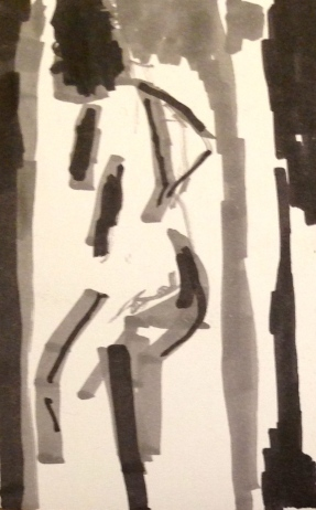 De Stael Exercise 1 JACQUIE RUFUS-ISAACS promarkers on a postcard 5 November 2014