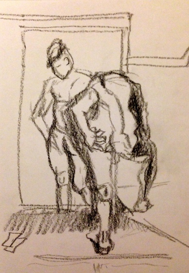 Vaughan Exercise 2 SUNA Graphite on paper A5 9 November 2014