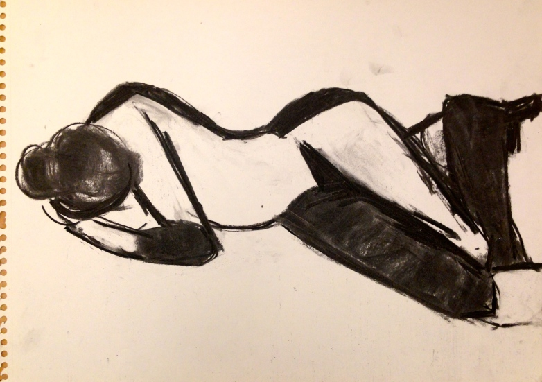 De Stael Exercise 6 JACQUIE RUFUS-ISAACS charcoal 5 November 2014