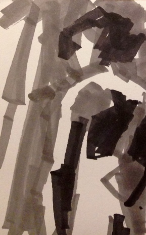 De Stael Exercise 1 LUCY POWELL promarkers on a postcard 5 November 2014