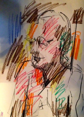 Auerbach marks LUCY POWELL oil pastels and charcoal 10 December 2014