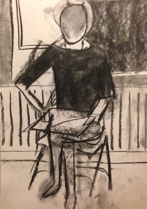 Matisse charcoal study NICOLA charcoal on paper 21 Dec 2014