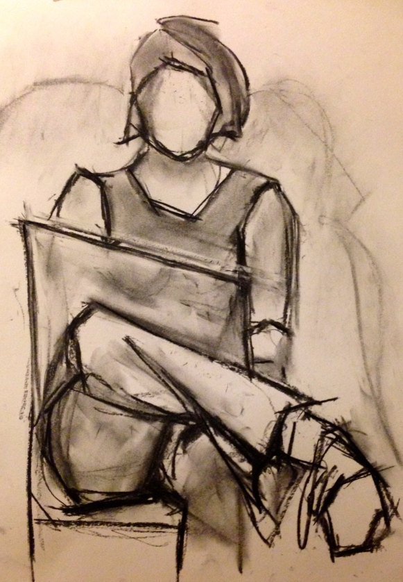 Matisse charcoal study EILEEN charcoal on paper 21 Dec 2014