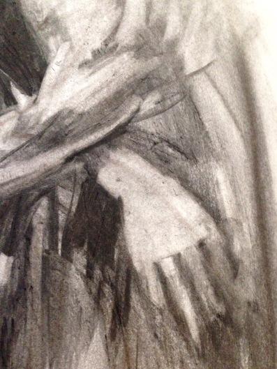 Charcoal Drawing of David (hand detail) JONATHAN ELLIS Charcoal on paper A2 3 November 2014