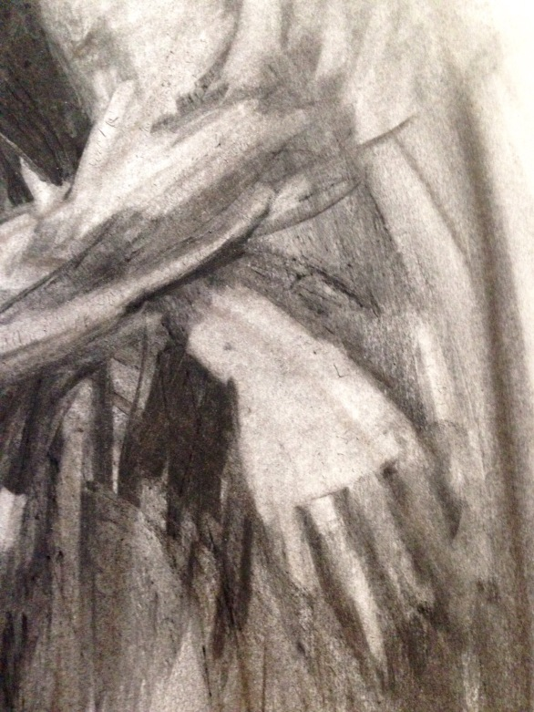 Charcoal Drawing of David (hand detail) JONATHAN ELLIS Charcoal on paper A2 3 November 2014