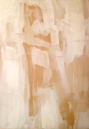 HUGE FIGURE 1 Stage 1 JONATHAN ELLIS Gesso on MDF 61 x 87 cm November 2014