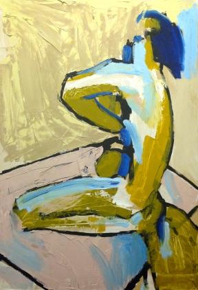 HUGE FIGURE 3 Stage 2 JONATHAN ELLIS Oils on Gesso on MDF 61 x 87 cm November 2014