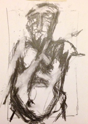 Giacometti exercise 1 EILEEN pencil on paper A5 7 December 2014