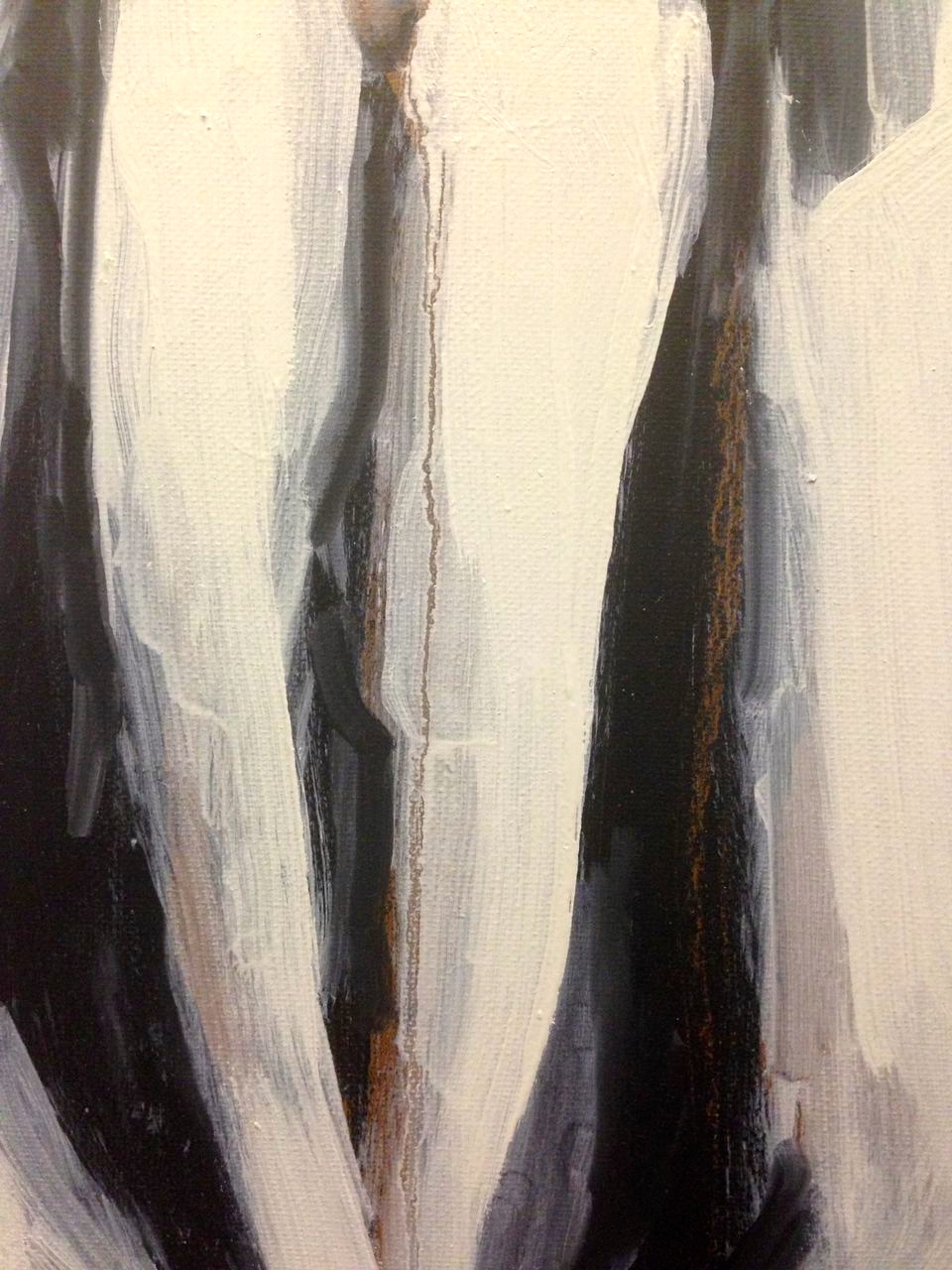 Estelle Standing (third stage) detail 5 JONATHAN ELLIS  oil and acrylic on canvas 5 December 2014