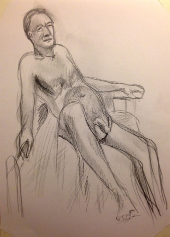 Folding Picasso MARILYN graphite pencil drawing 4 January 2014
