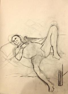 Barrie HELEN S charcoal on paper 18 Jan 2015