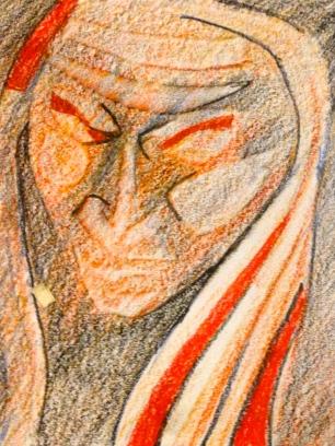 Helen's Head 2 GEORGIA woodless pencils 1 February 2015