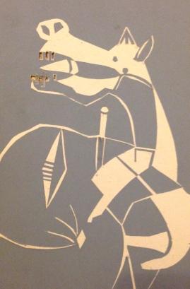 Guernica Horse's Head CAROLINE cut card 1 February 2015