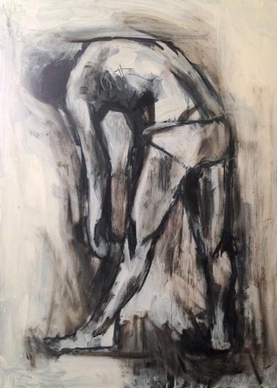 At the Still Point (penultimate version) JONATHAN ELLIS oil on board 61 x 84.5 cm February 2015
