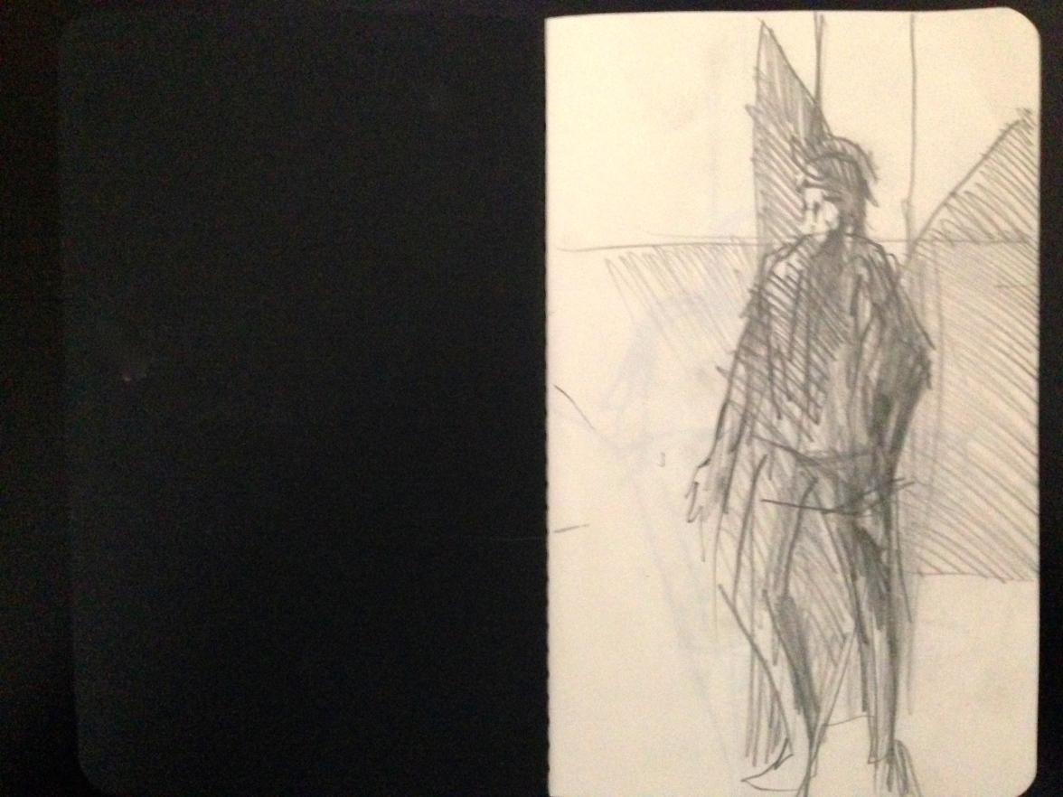 London People sketchbook page 1 JONATHAN ELLIS March 2015