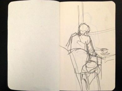 London People sketchbook page 2 JONATHAN ELLIS March 2015