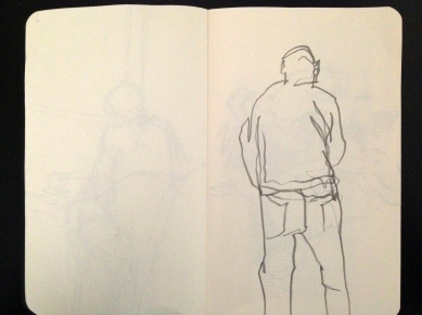 London People sketchbook page 3 JONATHAN ELLIS March 2015