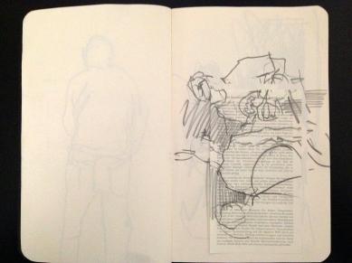 London People sketchbook page 4 JONATHAN ELLIS March 2015