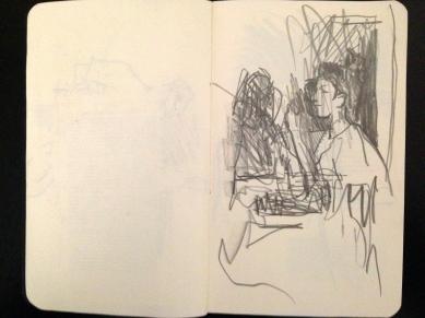 London People sketchbook page 5 JONATHAN ELLIS March 2015