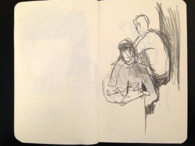 London People sketchbook page 7 JONATHAN ELLIS March 2015